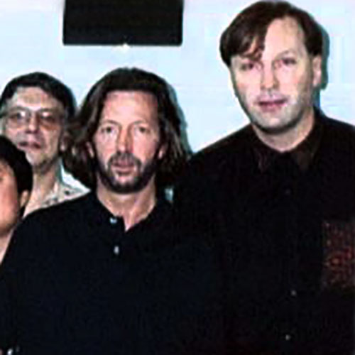 Paul Ewing with Eric Clapton
