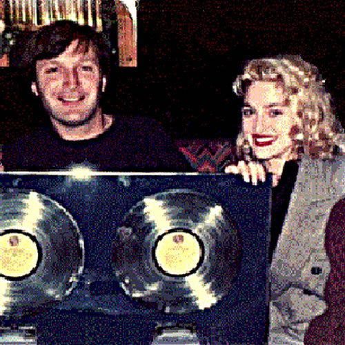 Paul Ewing with Madonna